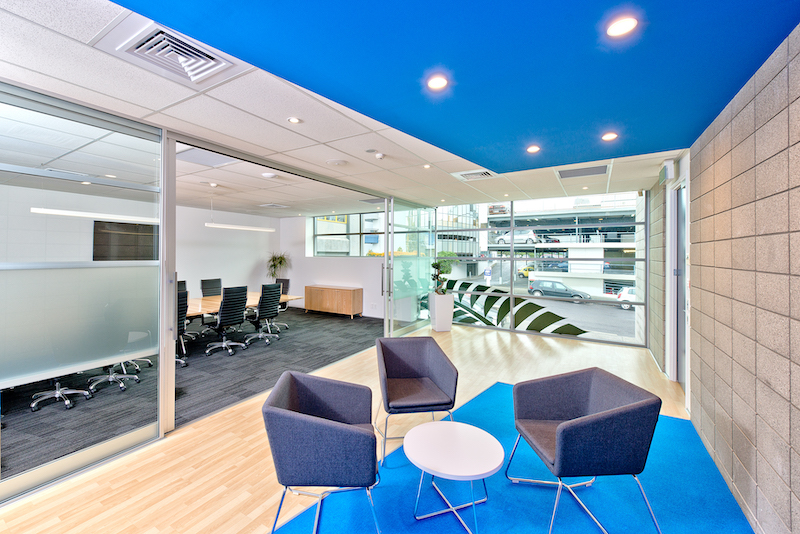 Bright commercial interior design project by Modern Concepts Brisbane